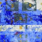 S/T. H. Julio Cortázar. 50x50 cms. Encáustica sobre tela