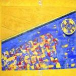 Ruleta II. 130x150 cms. Técnica mixta sobre tela